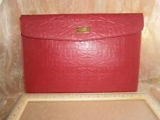 "BADGLEY MISCHKA Clutch MacBook Mac Air 13"" Red Leather Document Holder NEW"