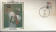 1985 National Football League AFC Championship Game Cover Dan Marino