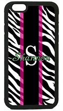 Custom Zebra  iPhone 4 5 5c 6 iPod 4 5  S3 S4 S5 personalized printed hard case