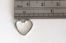 Surgical Steel Heart Seamless Cartilage Daith Tragus Helix Hoop Ring 16 gauge