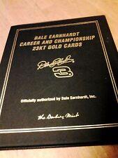 DALE EARNHARDT 23 KT GOLD CARDS DANBURY MINT -UNIQUE SET & MOMENTO COLLECTIBLE