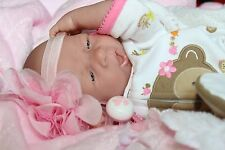 "AWW! ""CUTE AS A MOUSE""! Berenguer Newborn Reborn Baby Girl Pacifier Doll +Extras"