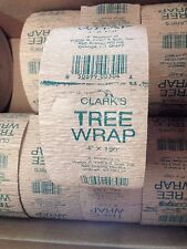 """Clark's TREE WRAP 4"""" X 150 ft-prevents sun scald, damage from rodents-paper"""