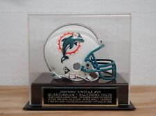 Display Case For Your Johnny Unitas Colts Autographed Football Mini Helmet