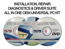 3 DISC SET INSTALL/RECOVER ALL WINDOWS 7 VERSIONS-HARDWARE DIAGNOSTICS & DRIVERS