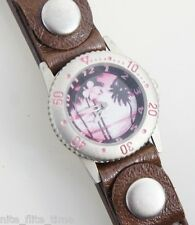 Tilt Women's Watch Brown and Bonus White Leather Strap Analog Tropical Dial