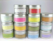 """2 VOTIVO AROMATIC TRAVEL TIN CANDLES """"YOUR CHOICE""""  PLUS FREE SHIPPING"""