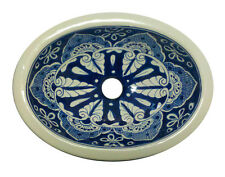 #106) SMALL 16x11.5 MEXICAN BATHROOM SINK CERAMIC DROP IN UNDERMOUNT BASIN