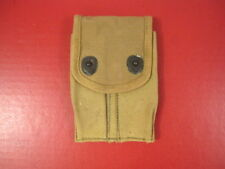 WWI US Army AEF M1910 Dual Magazine Canvas Pouch for the M1911 Pistol Dated 1918