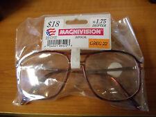 NEW Men's Reading Glasses - 1.75 Strength - MEGAVISION GREG 22 BIOFOCAL
