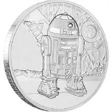2016 STAR WARS CLASSIC R2 -D2 1 OZ SILVER PROOF COIN!!! NEW!!!!