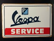 Vespa Service Metal Sign / Vintage Garage Wall Decor (30 x 40cm)