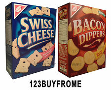 SWISS CHEESE CRACKERS & BACON DIPPERS CRACKERS ( 2 BOXES )