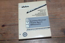 Lumina Minivan Trans Sport Silhoutte Book 1 U-Van 1996 GM Shop Service Manual