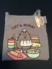 New Pusheen Tabby Cat Apron Let's Bake Gray Cooking Baking Kitchen Adjustable