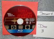 BLU-RAY Replacement JUST # 3 DISC How I Met Your Mother Season 4 NOT THE SET