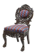 19ème siècle profusion sculpté bois Birmane chaise