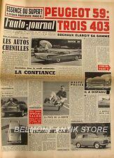 L'Auto-journal n°207 - Peugeot 403 - Les auto chenilles - Austin Healey Sprite -