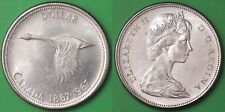 1967 Canada Silver Centennial 1 Dollar Graded as Almost Uncirculated