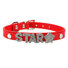 Soft PU Leather Personalized Dog Cat Puppy Collars Customized Free Name Letters