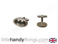 Batman New Superhero Mens Cuff Links Silver/Black