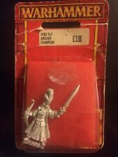 Warhammer High Elf Armoured Archer Champion   New Blister Elves 90s