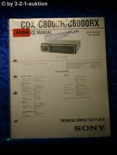 Sony Service Manual CDX C8000R / C8000RX CD Player (#4064)