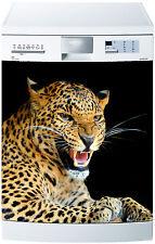 Aufkleber geschirrspülmaschine dekor küche haushaltsgeräte Leopard ref 625