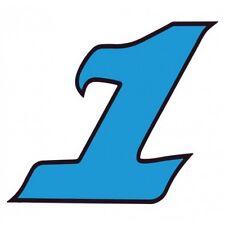 Chiffre 1 un - autocollant sticker bleu voiture moto 4 cm
