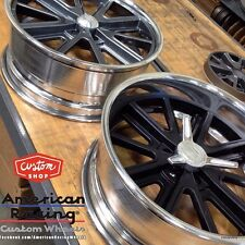 "17X7 "" AMERICAN RACING 407's SHELBY COBRA WHEELS GM CHEVY  FORD MUSTANG MOPAR"