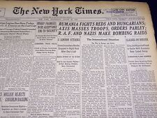 1940 AUGUST 28 NEW YORK TIMES - RUMANIA FIGHTS REDS - NT 2878