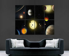 PLANETS SPACE POSTER SOLAR SYSTEM ART WALL LARGE IMAGE PICTURE