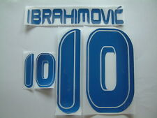 "IBRAHIMOVIC NOME+NUMERO UFFICIALE SVEZIA HOME OFFICIAL NAMESET ""GERMANY 2006"""