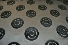 black grey silver embossed upholstery fabric £5.99 mtr symphony mills BARGAIN