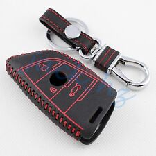 Leather Key Fob Holder Case Cover Chain FOR BMW X1 X5 X6 F15 F16 F48 Accessories
