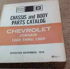 1960 1963 1967 68 1969 GM Chevrolet Corvair Chassis & Body Parts Catalog Manual