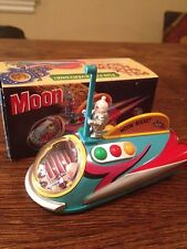 Japan Moon Rocket  Tin Spaceship Robot with Box
