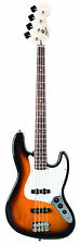 FENDER SQUIER BULLET JAZZ BASS 3 TONE SUNBURST J-BASS GUITAR ~P NEW
