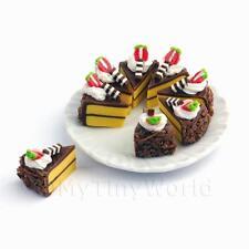 Miniatura Intero Affettato Torta Al Cioccolato