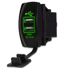 CH4x4 USB Power Socket Rocker Style - Green LED