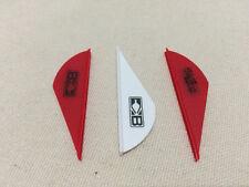 """12pc white + 24pc red 2"""" blazer vanes plastic fletching archery DIY new"""