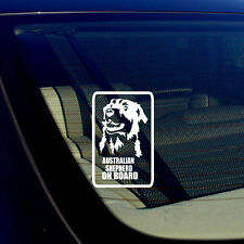 "Australian Shepherd On Board Car Window Bumper White Decal Sticker 5"" #S43"