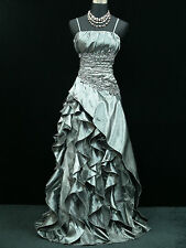 Cherlone Plus Size Grey Ballgown Bridesmaid Formal Wedding/Evening Dress 20-22