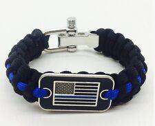 Police Lives Matter Paracord 550 Survival Bracelet