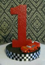 Cars Theme Birthday Party Centerpiece Table Decoration ANY Age Lightning McQueen