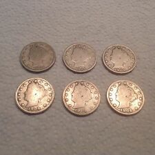 Set Of 6- 1904 Victory Nickels