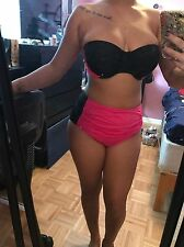 Pink & Black Venus Bathing Suit Size L