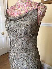 Rare monsoon gatsby flapper dress sequin size 10 gc