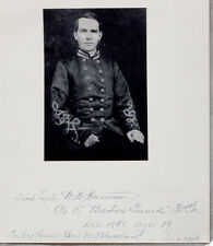 Signed WILLIAM HENRY HARRISON Autograph CIVIL WAR Photo CSA BARTOW GUARDS