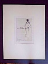 Original Picasso Ltd Ed IX/XXIX copperplate engraving Ballet Dancers INV2563